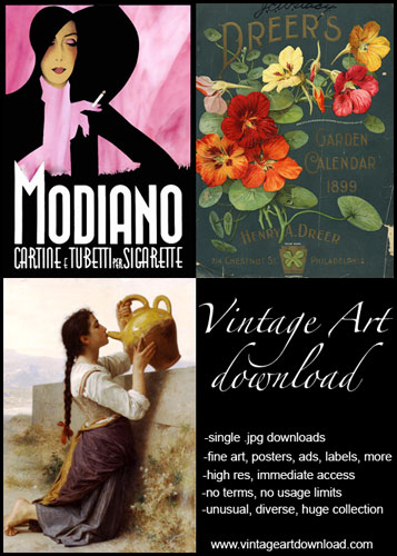vintage art download: download vintage art immediately, huge selection, no terms or usage limits